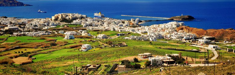 Top view of Naxos Island, Greece