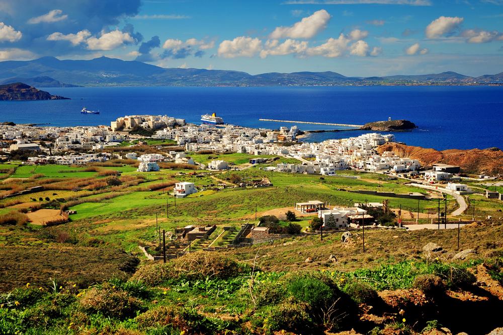 Top view of Naxos Island, Greece