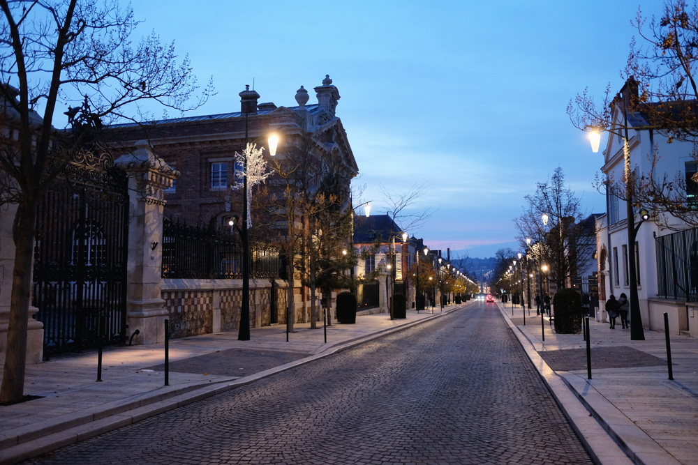 Evening view of Avenue de Champagne, known for its prestigious Champagne houses, Epernay, France