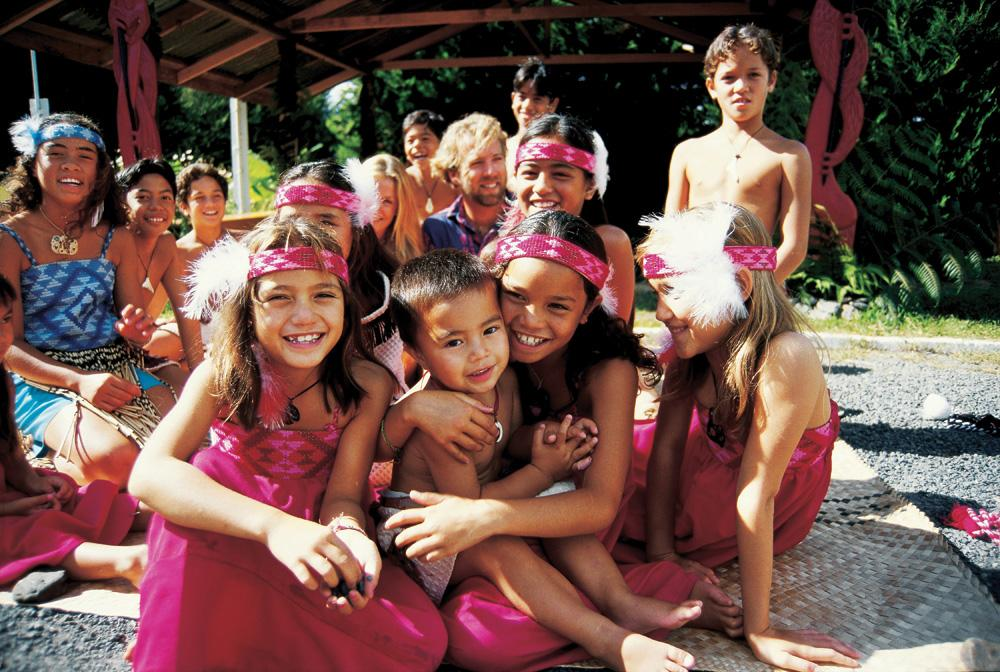 Maori children, New Zealand