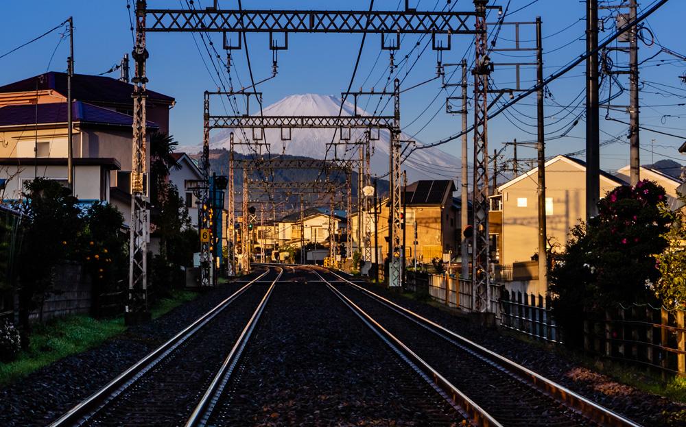 Mount Fuji train track, Japan