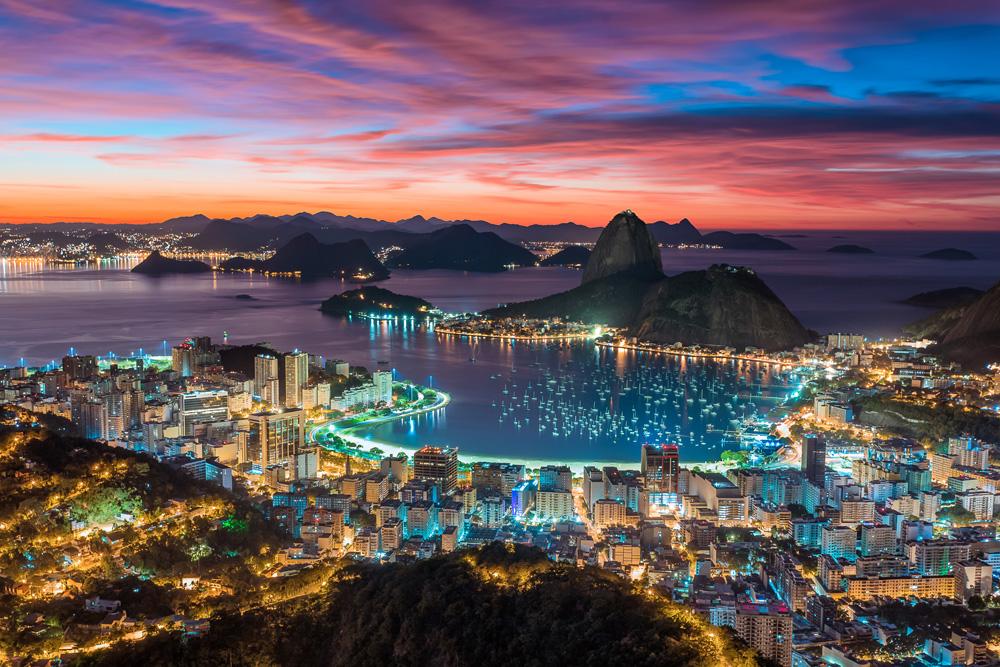 Sunset in Rio de Janeiro, Brazil