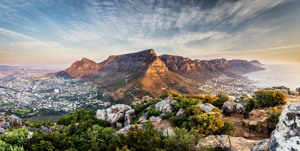 Table mountain at sunset, Cape Town, South Africa