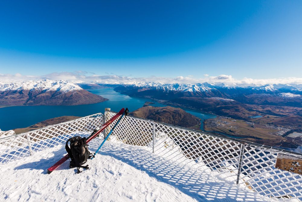 View from top of Remarkbles Mountain, Queenstown, New Zealand