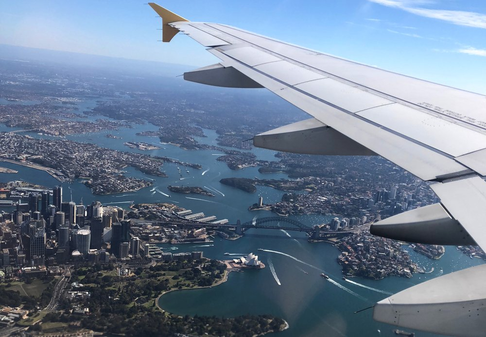View of Sydney from a plane, Australia