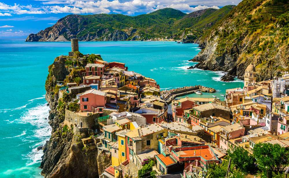 Village of Vernazza in Cinque Terre, Italy