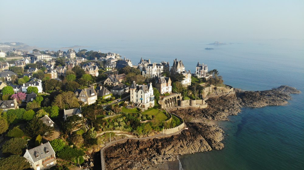 Aerial view of Dinard, Brittany, France