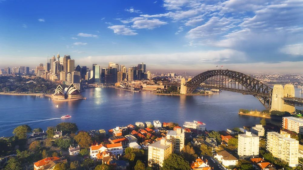Aerial view of Sydney Harbour, NSW, Australia