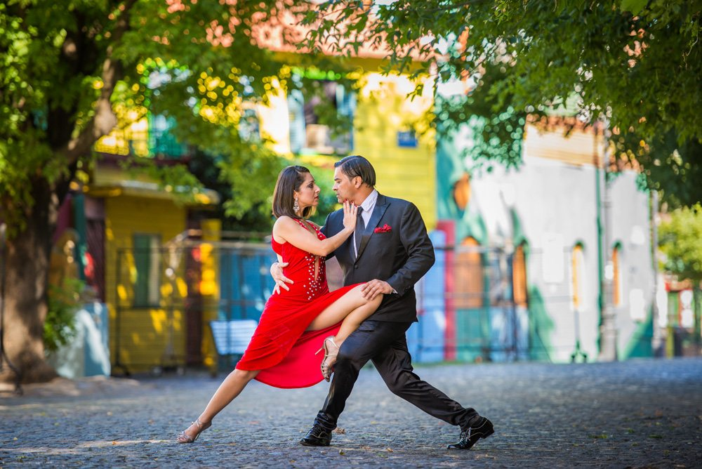 Argentine tango in La Boca District, Buenos Aires, Argentina