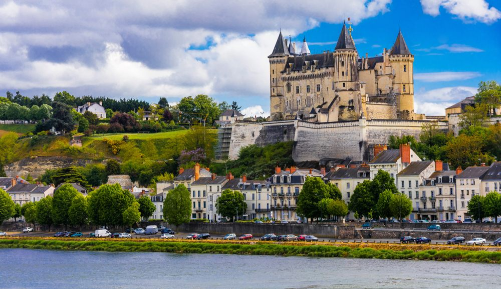 Beautiful Saumur in Loire Valley, France