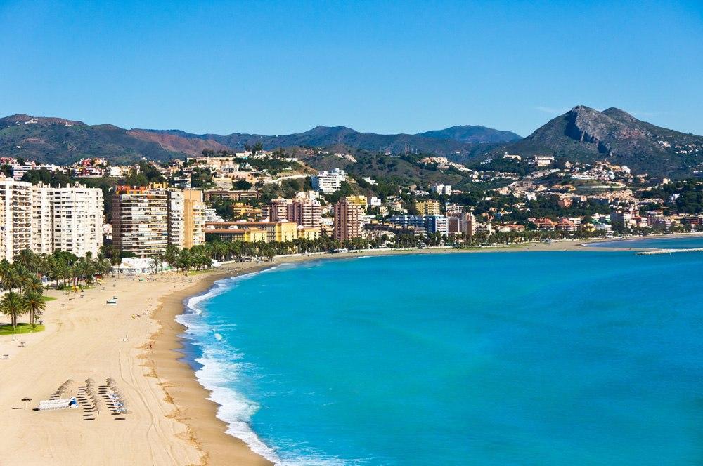 Beautiful view of Malaga, Spain