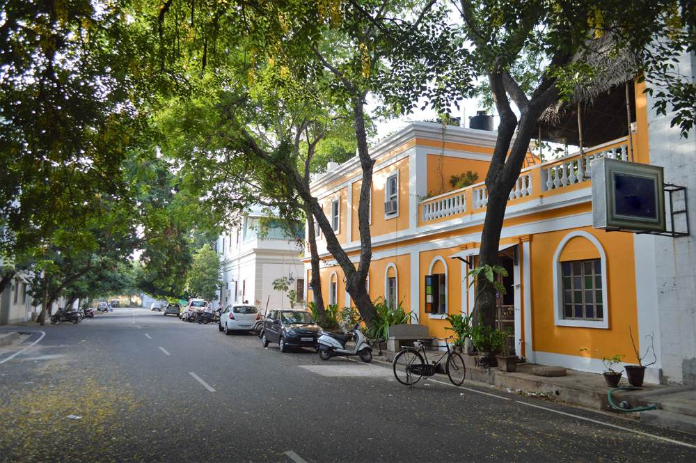 French Colonial architecture in Pondicherry, India