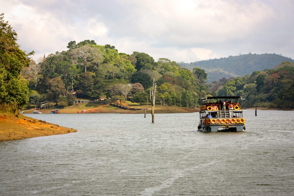 Lake at Periyar National Park, Kerala, India
