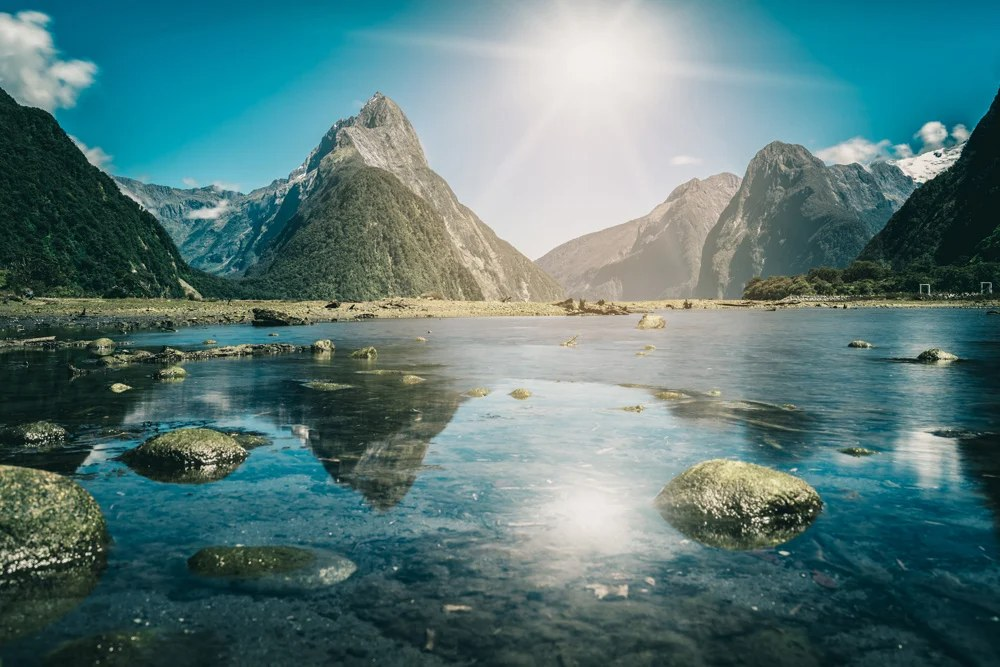 Milford Sound in Fiordland National Park, South Island, New Zealand