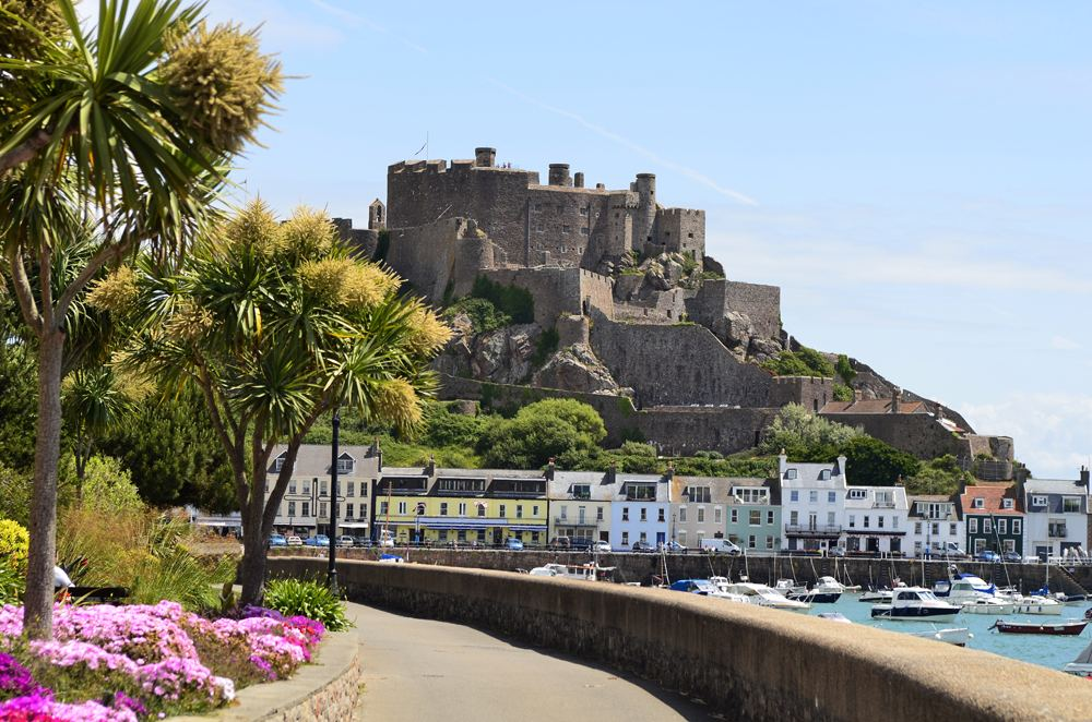 Mont Orgueil Castle in Jersey, Channel Isands, England, UK