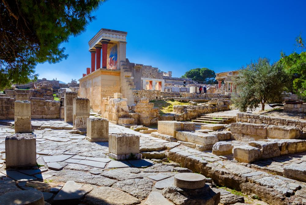 North Entrance of Knossos Palace, Crete, Greece