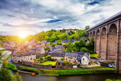 Old city of Dinan, Brittany, France