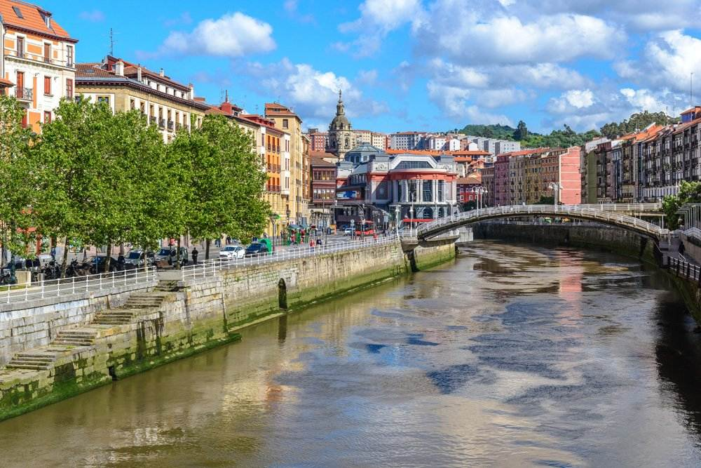 Old town of Bilbao, Spain