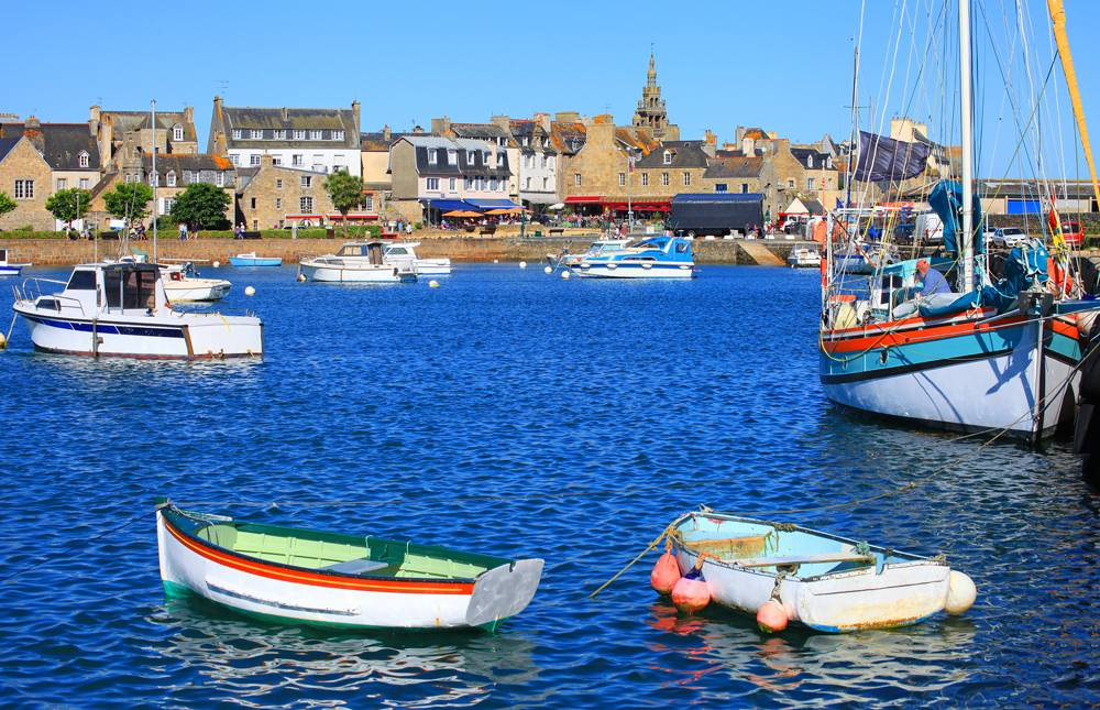 Roscoff harbor, Brittany, France