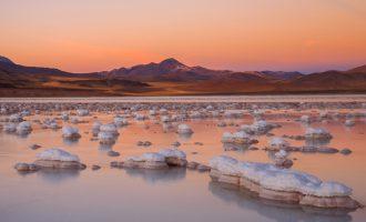 Salt formations at Atacama Desert, Chile