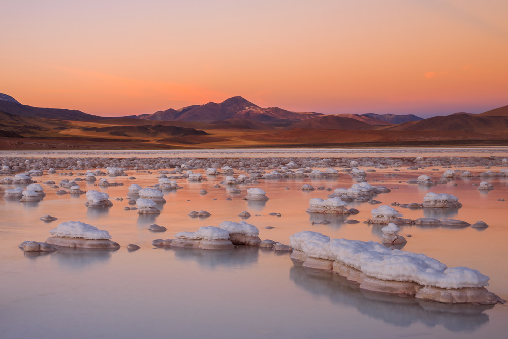 Salt formations at Atacama Desert, Chile