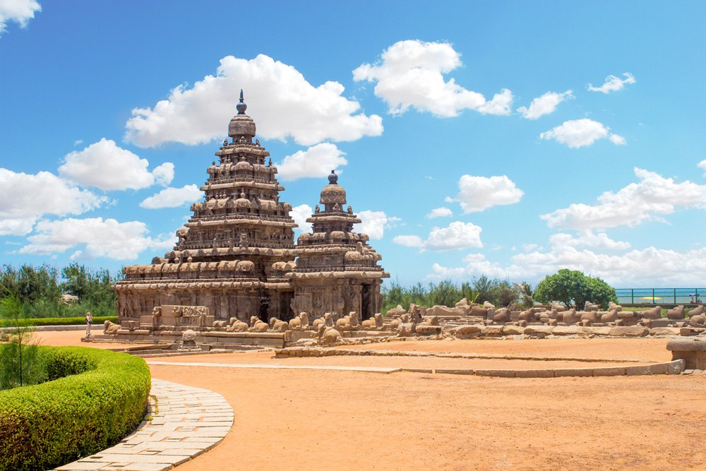 Shore Temple at Mahabalipuram, Tamil Nadu, India