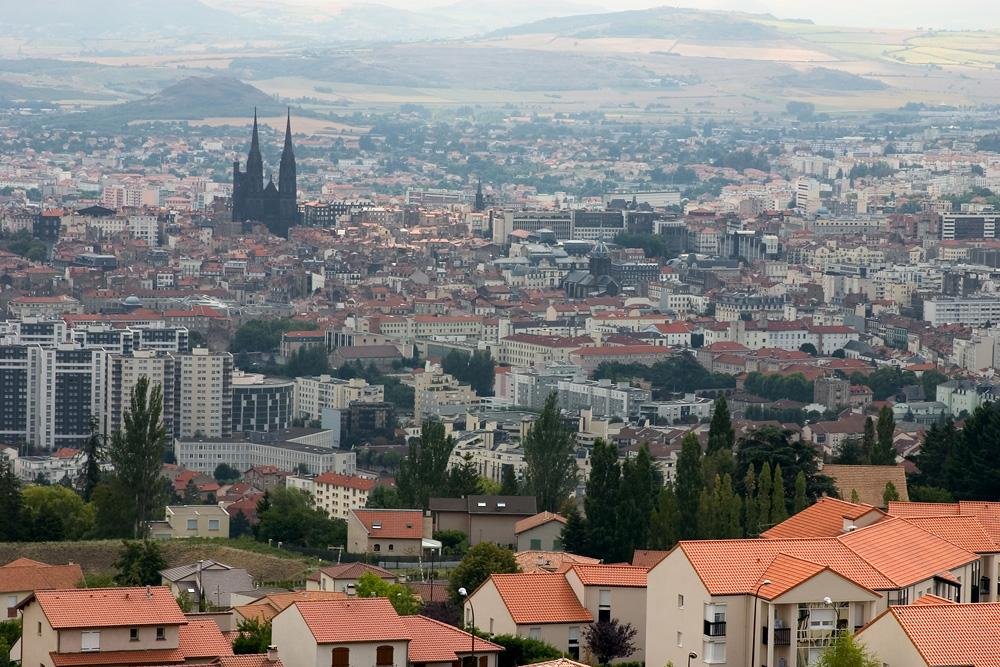 Aerial view of Clermont-Ferrand, Auvergne, France