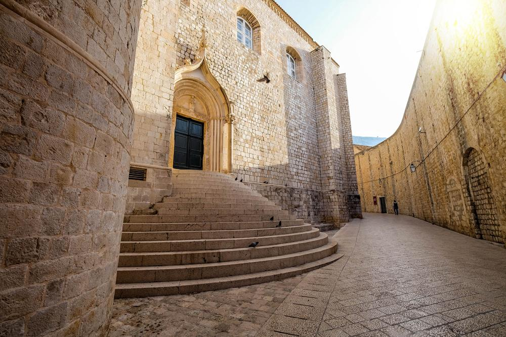 Architectural details of old town Dubrovnik, Croatia