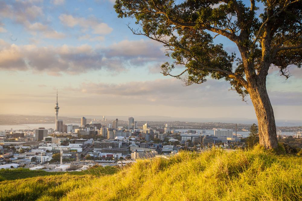 Beautiful city of Auckland in autumn, New Zealand