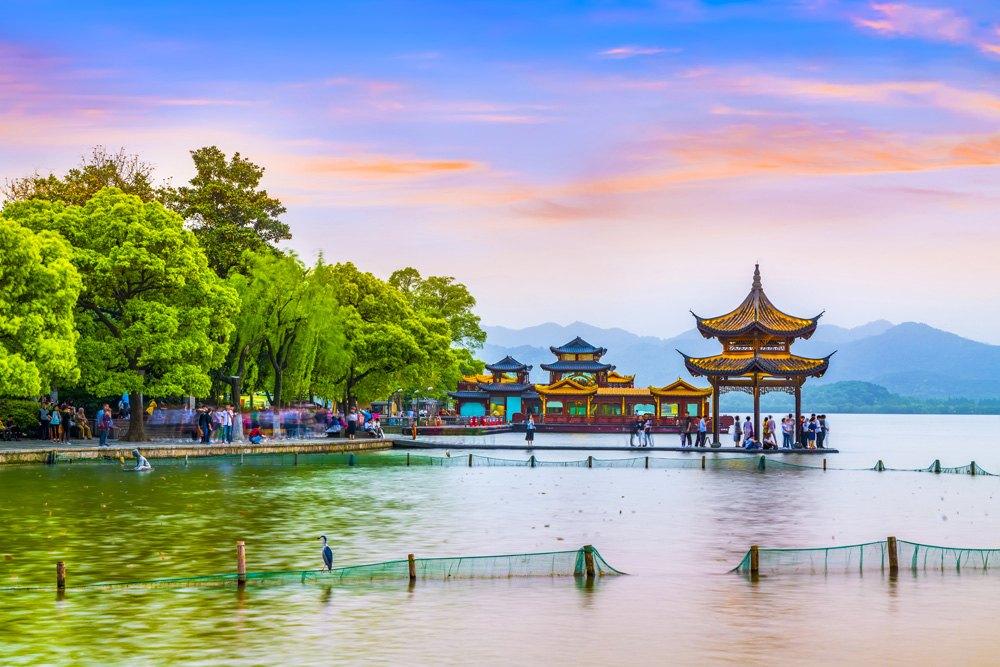 Beautiful scenery at West Lake, Hangzhou, China