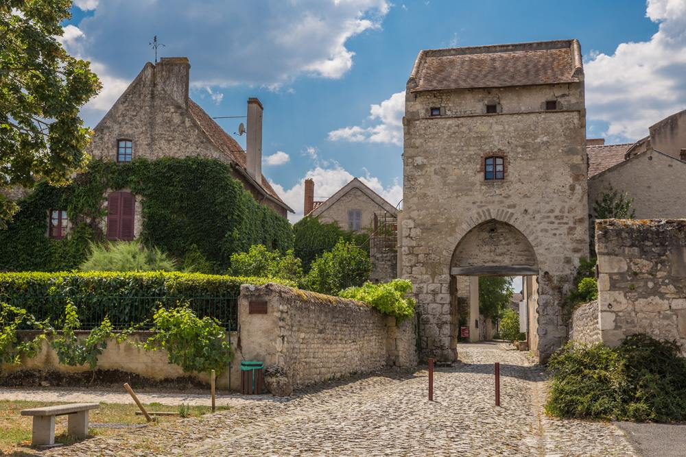 Charroux, one of the most beautiful villages in Auvergne, France