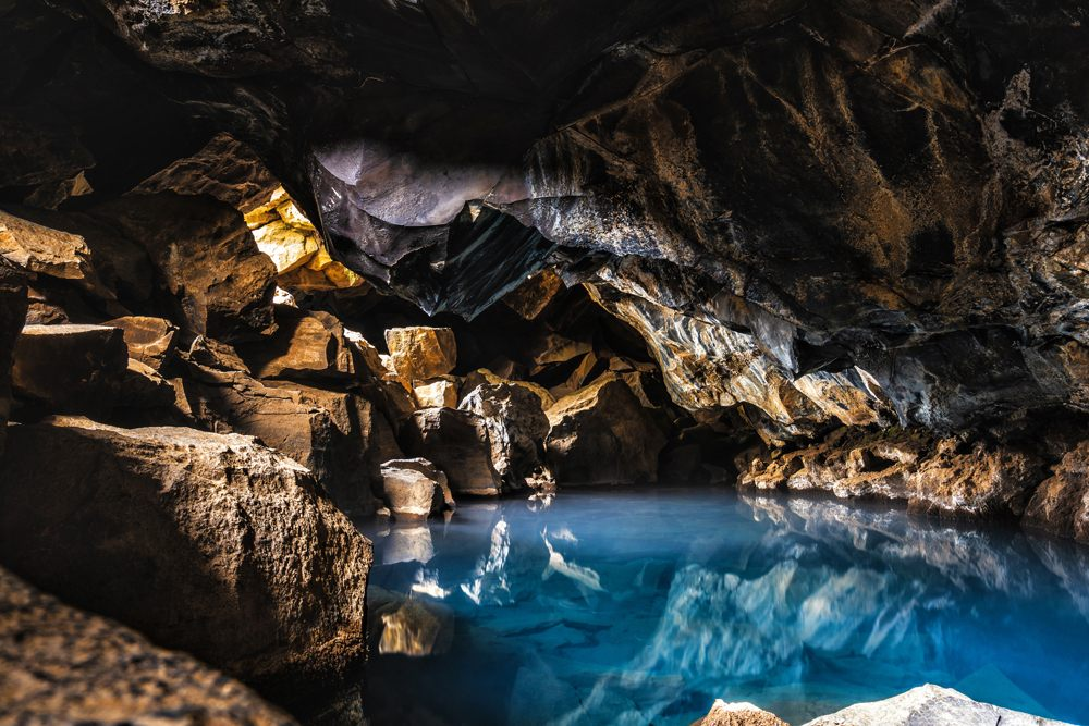 Grjotagja Cave, near Myvatn, Iceland