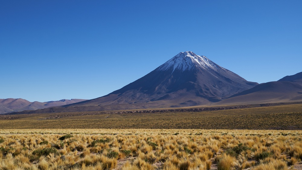 Mount Llullaillaco in Atacama desert, Chile