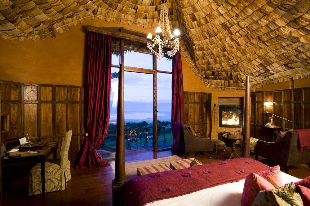 Ngorongoro Crater Lodge suite interior, Ngorongoro Crater, Tanzania