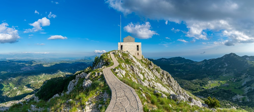 Njegos Mausoleum on the top of Lovcen Mountain, Lovcen National Park, Montenegro