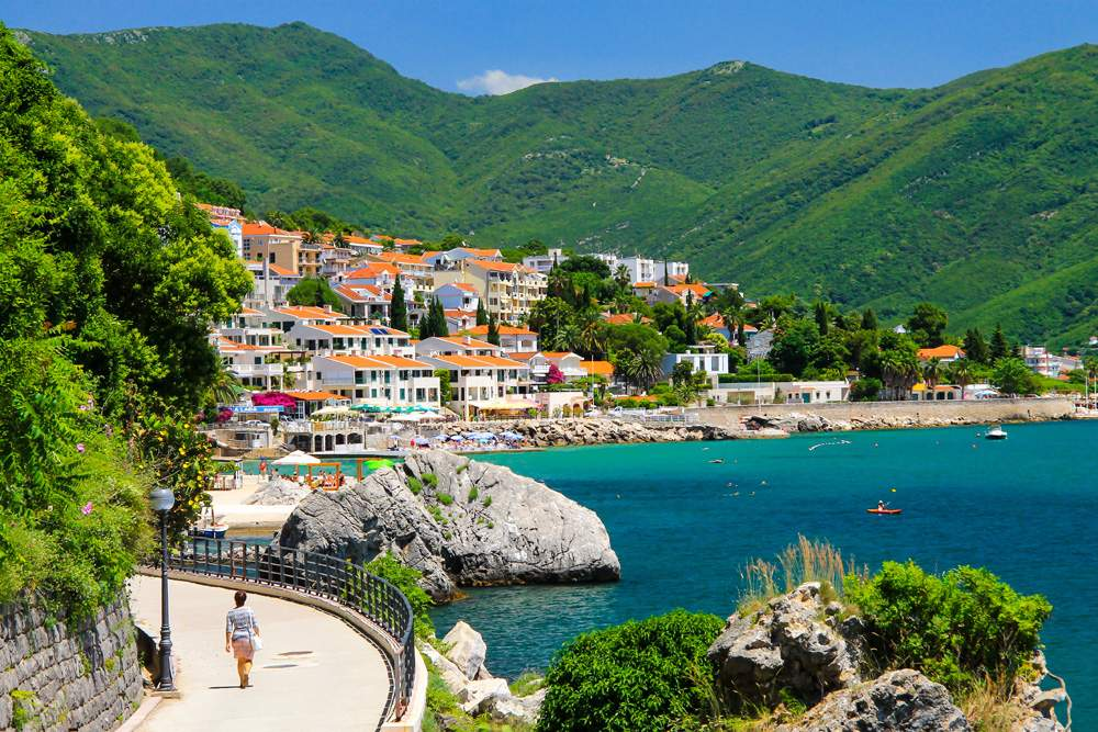 Picturesque city of Herceg Novi, Montenegro
