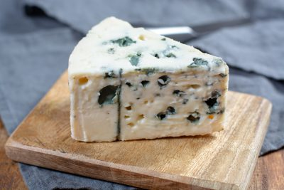 Roquefort, soft French cheese made from sheep milk, France