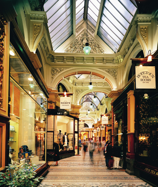 Royal Arcade in Melbourne, Victoria, Australia