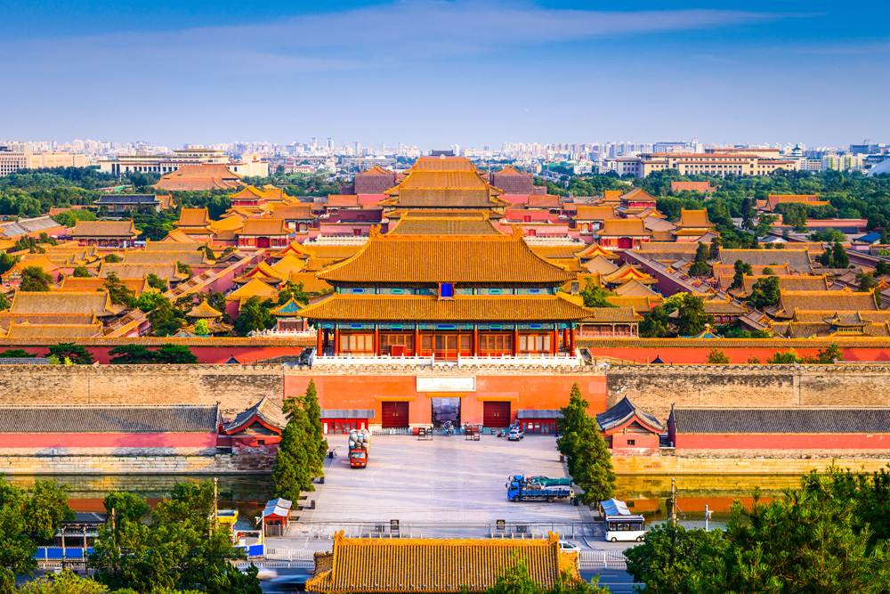 Skyline of the Forbidden City, Beijing, China