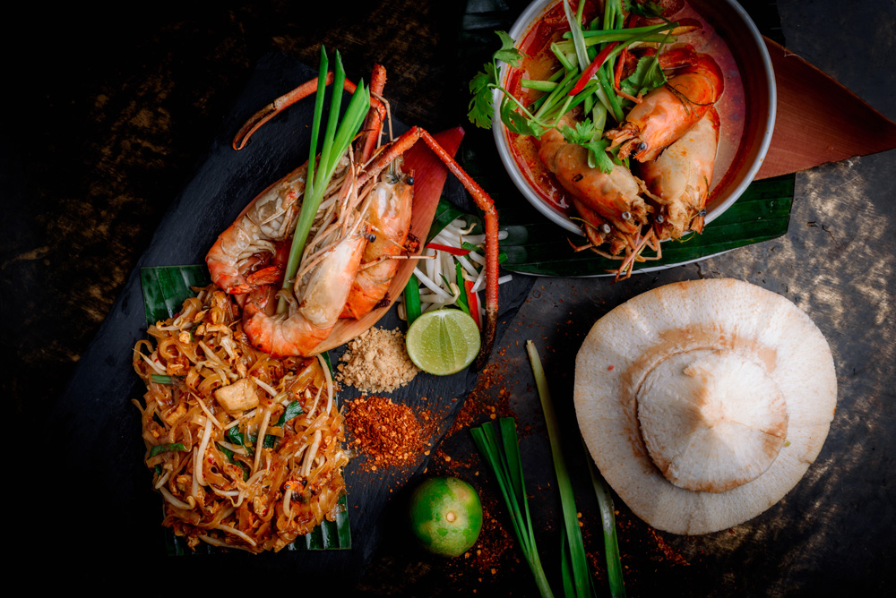 Tom Yum Kung, Phad Thai and coconut, Thailand
