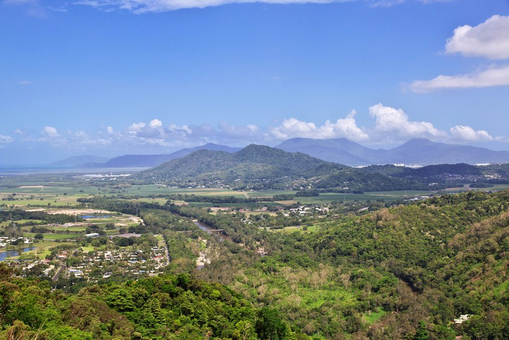 View of the valley of Kuranda, Cairns, Australia