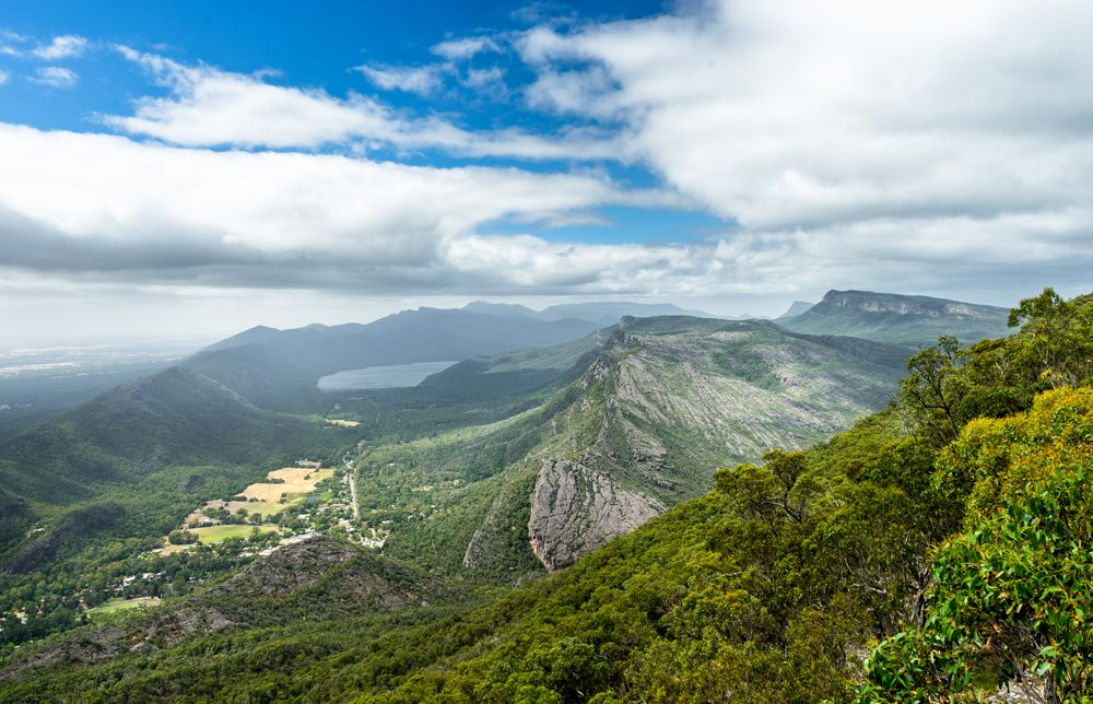 View over Grampians National Park from Boroka Lookout, Victoria, Australia