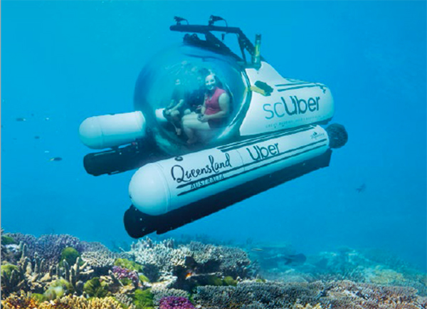 scUber ad, Great Barrier Reef, Queensland, Australia