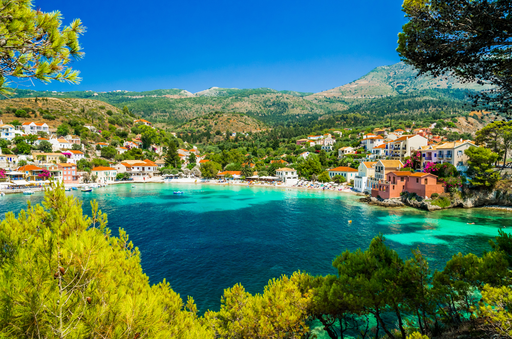 Assos village on the Island of Kefalonia, Ionian Islands, Greece