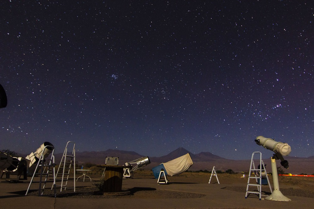 Astronomical tour in Atacama Desert, close to San Pedro de Atacama town in Chile