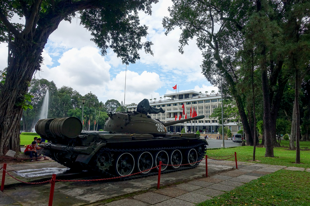 Chinese tank on the yard of Reunification Palace, Ho Chi Minh (Saigon), Vietnam