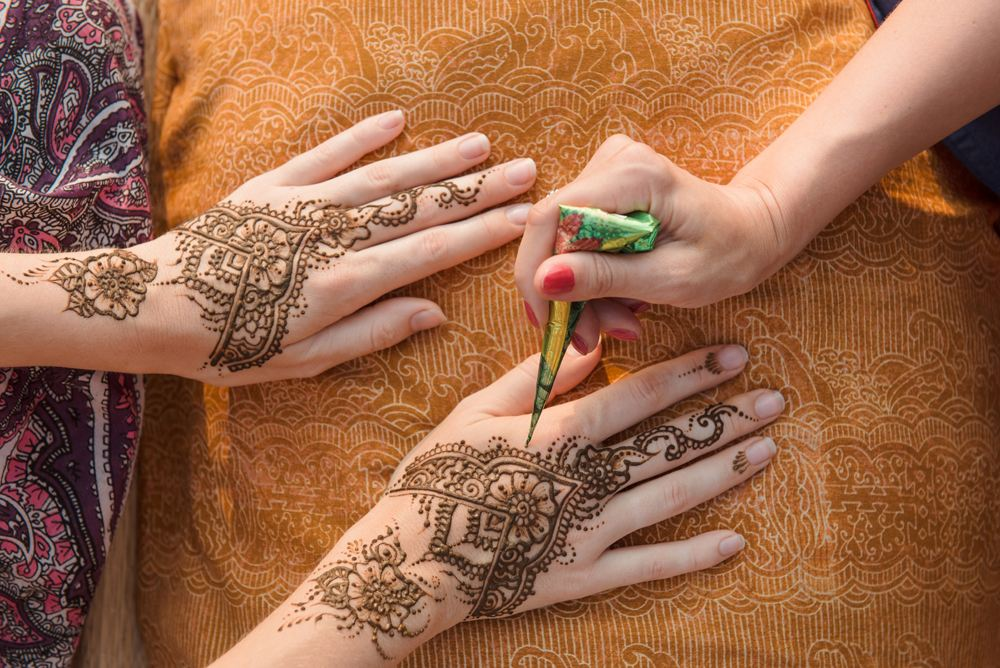 Henna (mehndi) painting, India