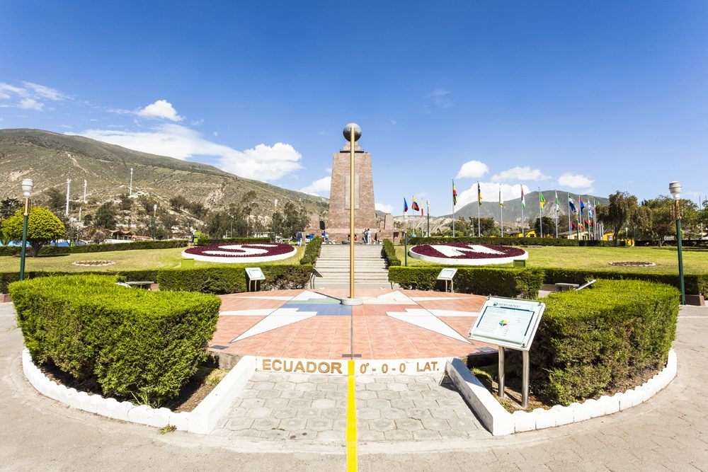 Middle of the World monument near Quito, Ecuador