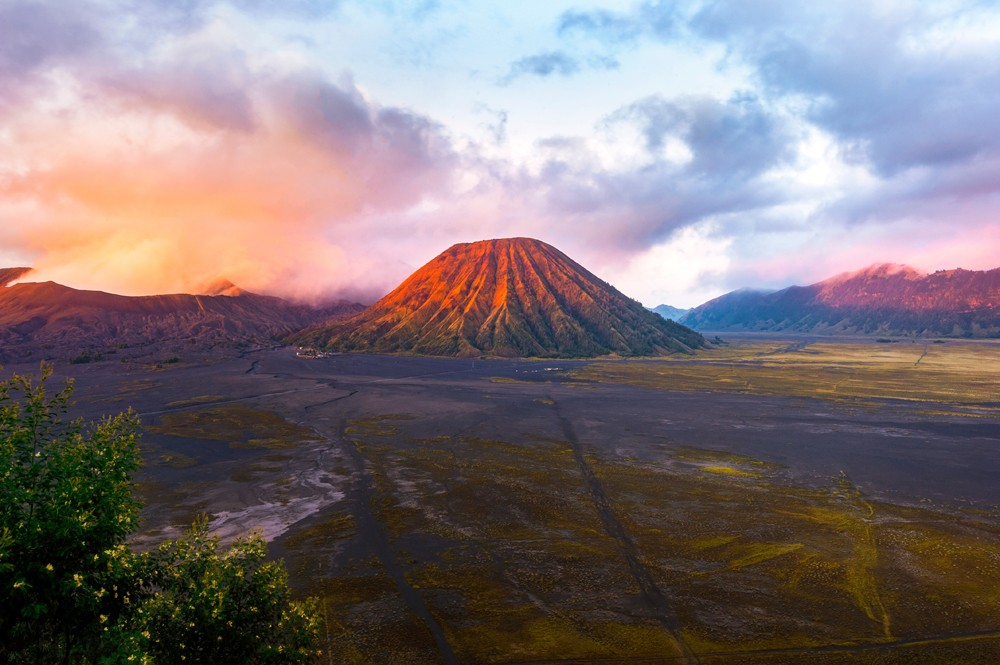 Mount Bromo at sunset, Indonesia