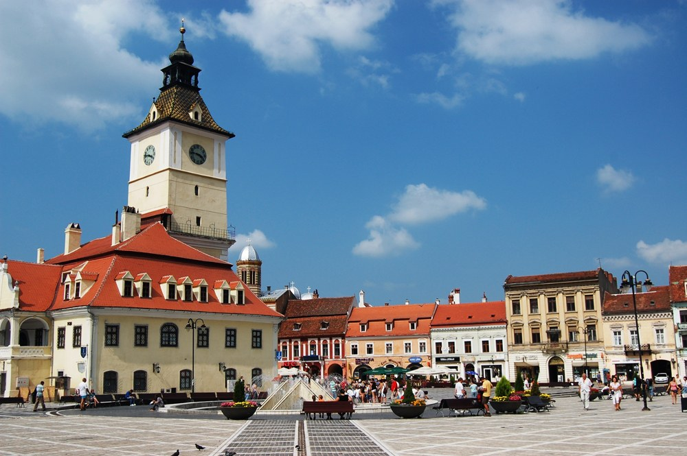 Old town hall and council square, Brasov, Romania